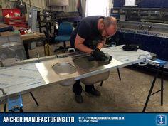 Kitchen sink fabrication process