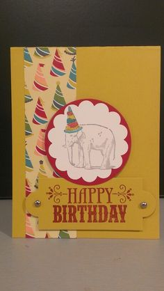 You're Amazing birthday card with Birthday Basics DSP