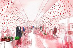 Sketch of Louis Vuitton Opens Pop-Up Stores for Kusama Collection | Highsnobiety