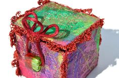 EMBROIDERED TEXTILE BOX Jewelry Box Gift Box by HeketDesigns, $22.75
