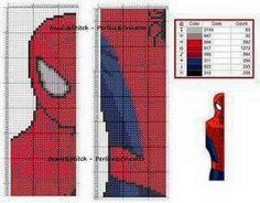 Spiderman segnalibro puntocroce