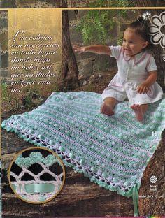 As Receitas de Crochê: Manta para bebe