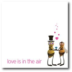 Love is in the Air Card  Digital File by BlueIrisStudio on Etsy