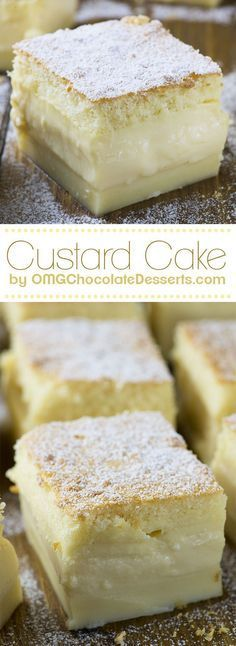 Magic Custard Cake Vanilla Magic Custard Cake is melt-in-your-mouth soft and creamy dessert.Vanilla Magic Custard Cake is melt-in-your-mouth soft and creamy dessert. Brownie Desserts, Oreo Dessert, Mini Desserts, Chocolate Desserts, Just Desserts, Delicious Desserts, Dessert Recipes, Cake Chocolate, Egg Desserts
