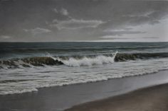 """Edward Minoff, """"Ocean Fall"""", oil"""