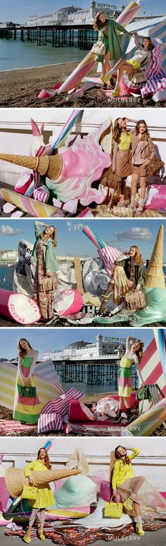 Tim Walker. Frida Gustavsson and Lindsey Wixson, Mulberry, Spring/Summer 2012. [Pinned 4-v-2016]