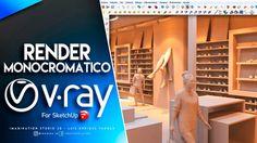 Render Monocromatico - Vray para Sketchup Autocad, Photoshop, Studio, Architecture, Tutorials, Arquitetura, Studios, Architecture Design