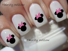 Hey, I found this really awesome Etsy listing at https://www.etsy.com/listing/182720349/minnie-mouse-pink-bow-nail-decals