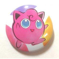 Pokemon Center 2013 15th Anniversary Jigglypuff Tin Can Badge