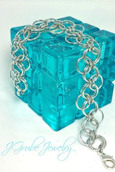 Silver Bubbles Chainmaille Bracelet by JGrubeJewelry on Etsy