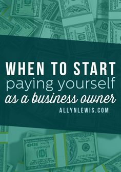 When you are starting a business, figuring out when you should be paying yourself can be confusing!