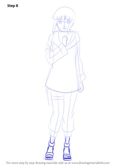 how to draw sakura haruno step by step