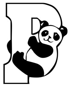 P For Panda Coloring Pages