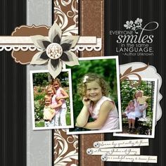 Everyone Smiles Divine #Digital #Scrapbooking Layout  http://www.mycmsite.com/sites/dbrinsley