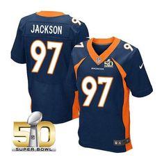 Denver Broncos #97 Malik Jackson Navy 2016 Super Bowl 50 Elite Jersey