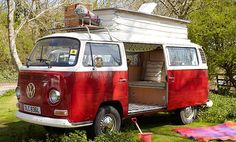 SERIOUSLY??? You can rent a Volkswagen Campervan??? I totally want to take a road trip in this!! If I ever get to Europe, I'm so doing this!