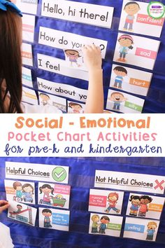 These social emotional learning activities for young learners are a perfect addition to your kindergarten or pre-k lesson plans! They teach students about feelings and can be used during play in a small group, whole group, or use in literacy centers for engaging, interactive learning. #kindergarten #prek #learningactivities