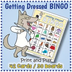 ESL Clothing Vocabulary BINGO - Names of Clothes BINGO by Drag Drop Learning