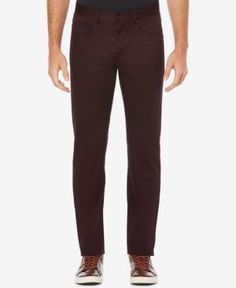 Perry Ellis Men's Stretch Sateen Pants - Red 44x32