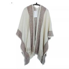 Sweaters Charitable New Casual Women Sweater Hooded Poncho And Cape Knitted Sweaters Tassel Pullover Solid Sweater Women Poncho And Capes Warm Coat Women's Clothing
