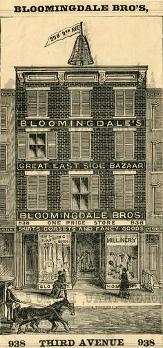 The Original Bloomingdale's Department Store, Gilded Age NYC. Old Photos, Vintage Photos, Manhattan Nyc, Vintage New York, Gilded Age, Wood Engraving, Historical Society, Department Store, Back In The Day