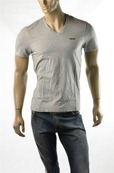 Armani Exchange T-Shirt A/X Mens V Neck Slim Wings Logo T Shirts Sz M New #ArmaniExchange #GraphicTee