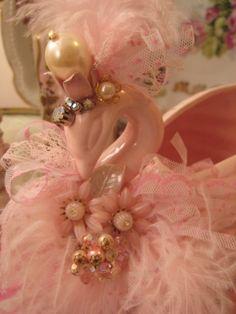 Embellished Pink Swan