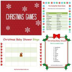 Free Printable #Christmas #Baby #Shower #Games.