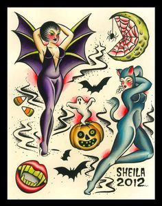 diablo+rose+pin+up+tattoo+halloween+sheila+marcello+3.jpg (1261×1600)