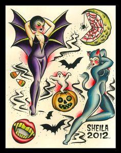 diablo+rose+pin+up+tattoo+halloween+sheila+marcello+3.jpg (1261×1600)