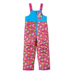 Girls 4-6x Shopkins Sneaky Wedge, Kooky Cookie & Apple Blossom Bib Snowpants, Girl's, Size: 5, Pink