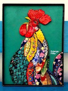 Solange Piffer 2021 A, Hacienda Mosaico Mosaic Animals, Mosaic Birds, Mosaic Artwork, Mosaic Wall Art, Mosaic Crafts, Mosaic Projects, Mosaic Designs, Mosaic Patterns, Stained Glass Art