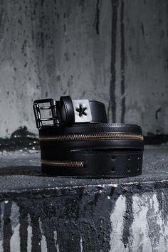 Star Zip Point Leather Belt