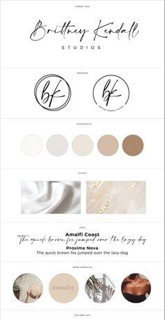Girly & modern brand identity for Brittney Kendall Studios located in California! Brand Identity Design, Branding Design, Branding Kit, Branding Website, Graphic Design Inspiration, Brand Inspiration, Old Logo, Brand Board, Fashion Branding