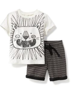 2-Piece Graphic Tee and Printed Shorts Set for Baby  | Old Navy