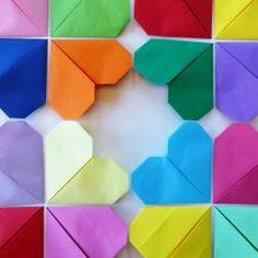 fremgangsmåte origamihjerte  diy origami heart Origami Heart, Diy Origami, Cube, Abstract, Artwork, Summary, Origami Hearts, Work Of Art, Auguste Rodin Artwork