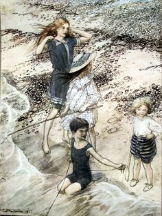 "Arthur Rackham ""On the Beach"""