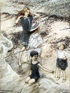 """Arthur Rackham """"On the Beach"""""""