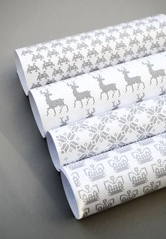 Printable Cross Stitch Wrap by minieco: Free PDFs! #Wrapping_Paper #Cross_Stitch #Printables