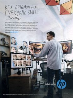 Rex Grignon from Dreamworks in HP campaign