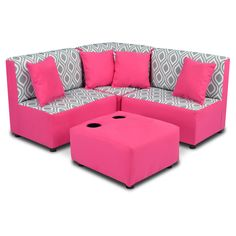 The Zippity Kids Sectional Sofa Set - Nicole Storm Twill is bigtime fun in a kid-size package. This adorable sectional set is covered in 7 oz.