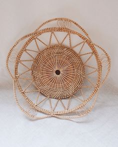 No.18 Basket Wall Hanging Set of 11 | Olive & Iris Baskets On Wall, Woven Baskets, Basket Weaving, Hand Weaving, Solid Waste, Smooth Walls, Rattan Basket, Types Of Wood, Three Dimensional