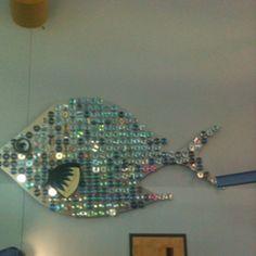 Upcycled CD fish