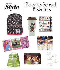 Disney Style's Back-to-School Essentials. I NEED that hipster mickey cup. Its adorable!