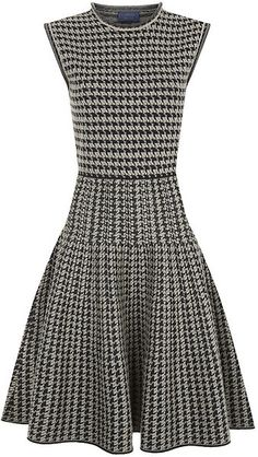 LANVIN Houndstooth Circle Dress - Lyst