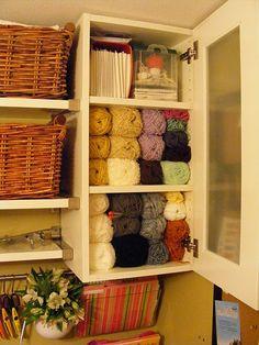 Craft Room - I like the yarn storage here.