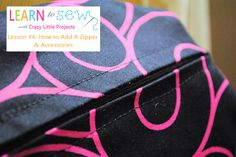 Sewing zippers in