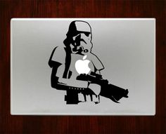 """stormtrooper Decal Sticker Vinyl For Macbook Pro/Air 13"""" Inch 15"""" Inch 17"""" Inch Laptop Cover"""