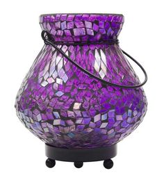 Purple Mosaic Lantern