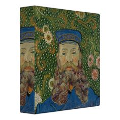 Portrait of Postman Joseph Roulin by Van Gogh 3 Ring Binder